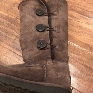 UGG brown boots Bailey Button